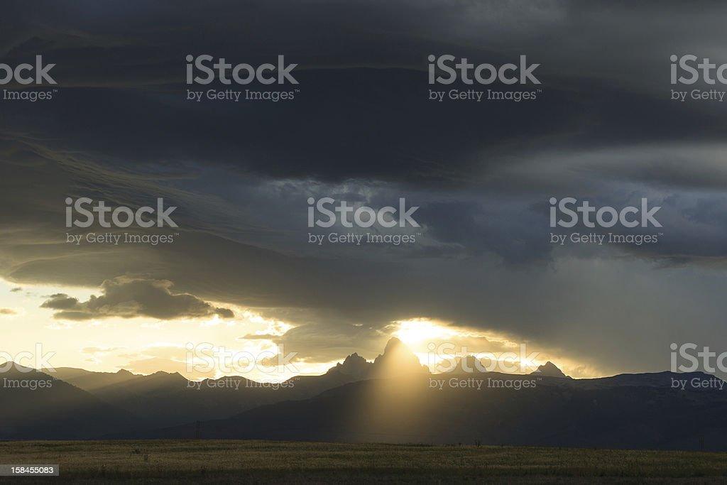 Teton Valley Dawn stock photo