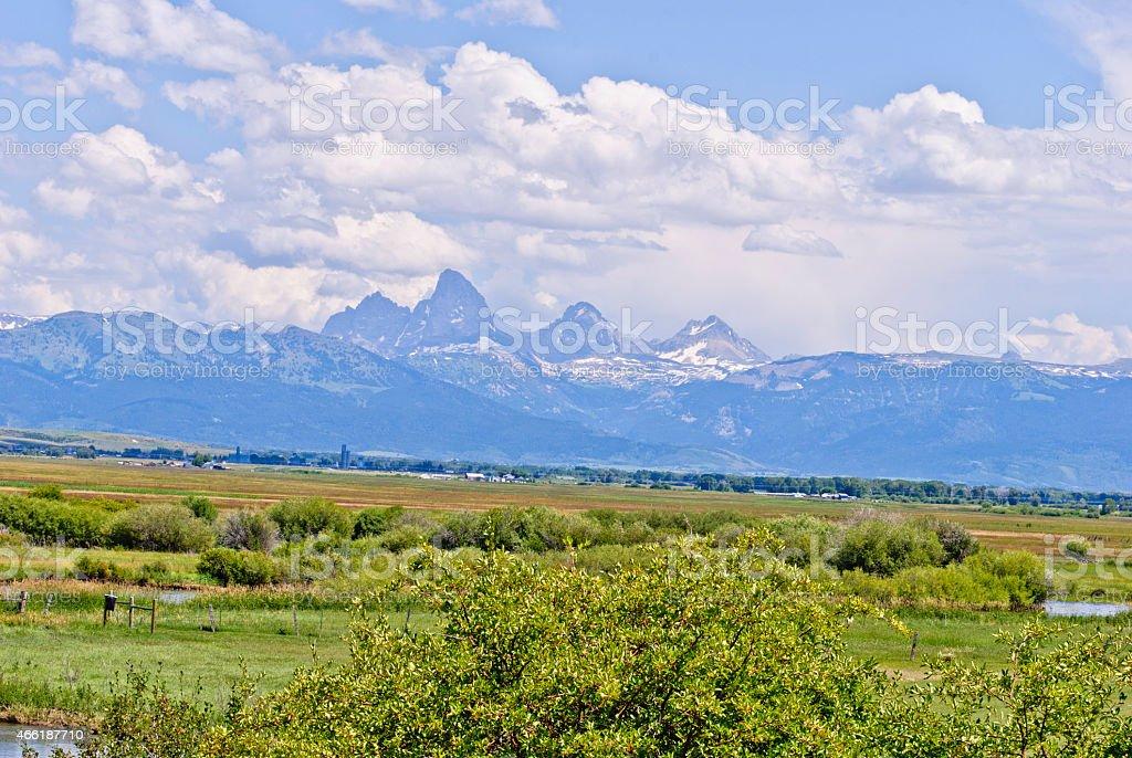 Teton Valley Idaho stock photo