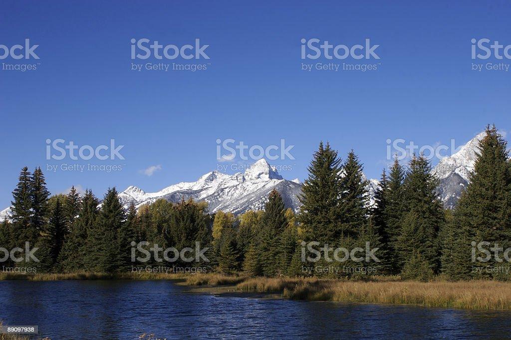 Tetons and river royalty-free stock photo