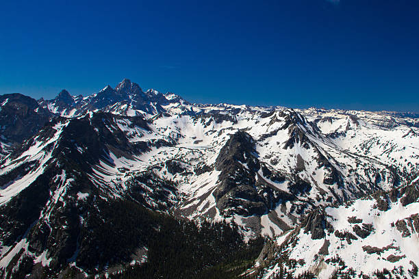Tetons From the Air II stock photo