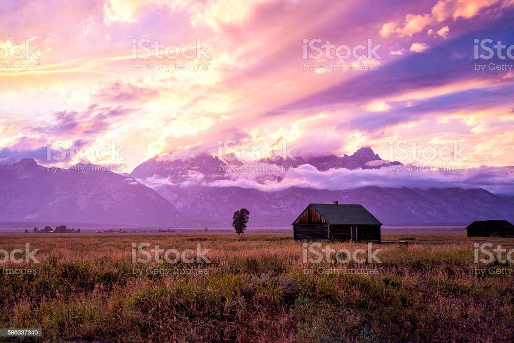 Tetons Sonnenuntergang Lizenzfreies stock-foto