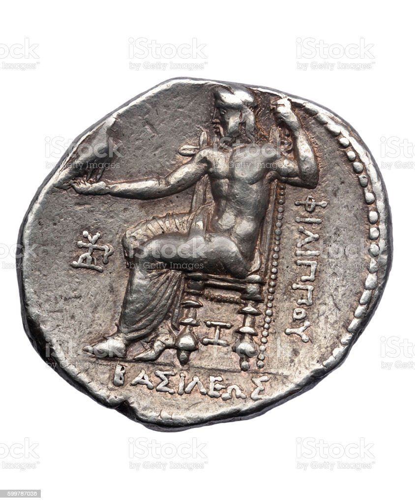 Tetradrachm of Alexander the Great late fourth century - foto de acervo