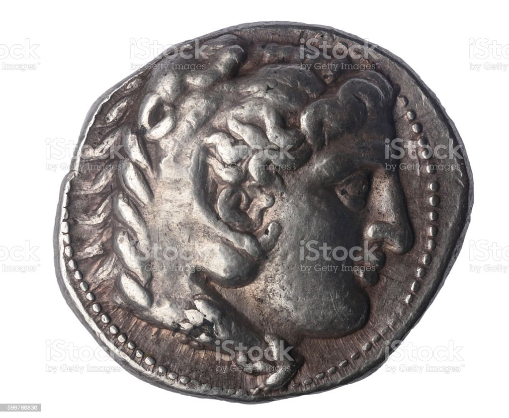 Tetradrachm of Alexander the Great late IV century BC - foto de acervo