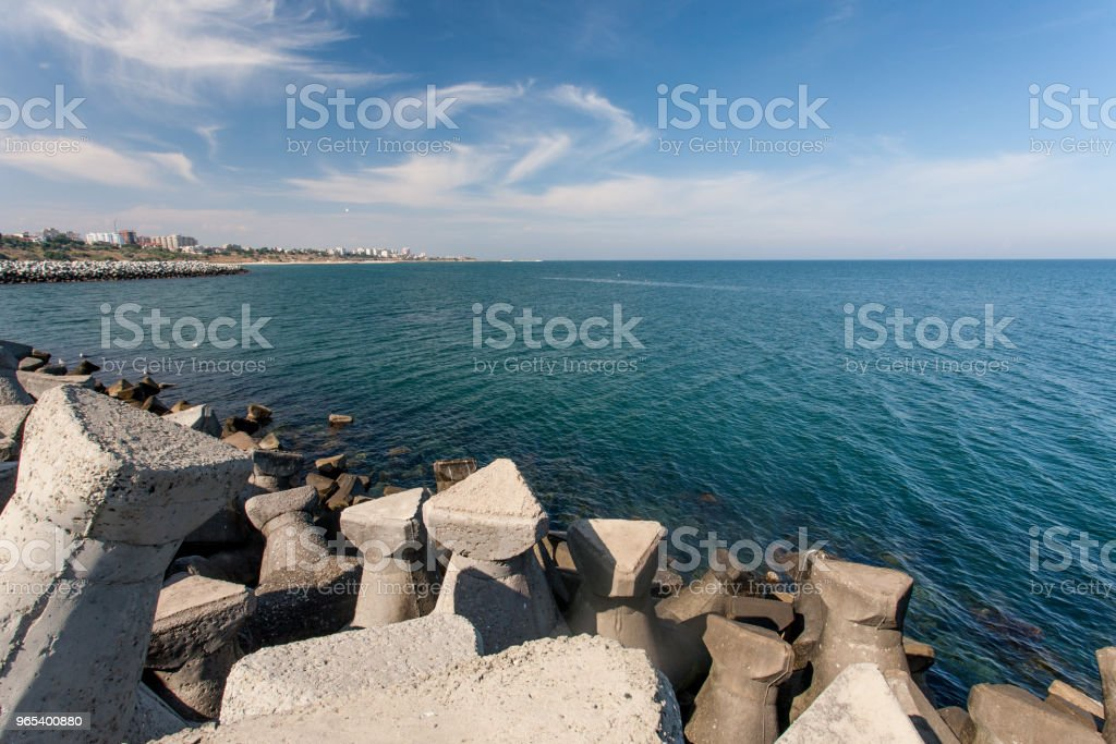 Tetrapod structure for protection coast from wave . royalty-free stock photo