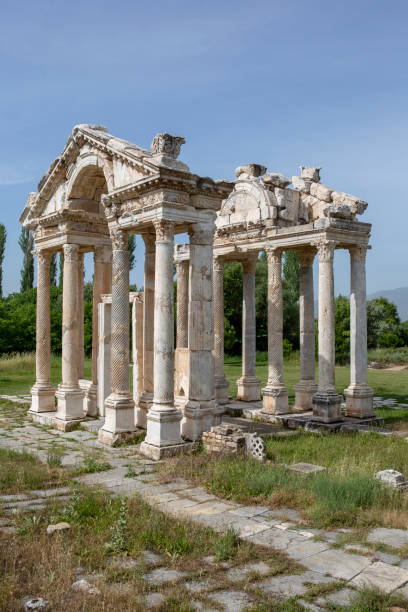 Tetrapylon in Aphrodisias, Aydin, Turkey stock photo