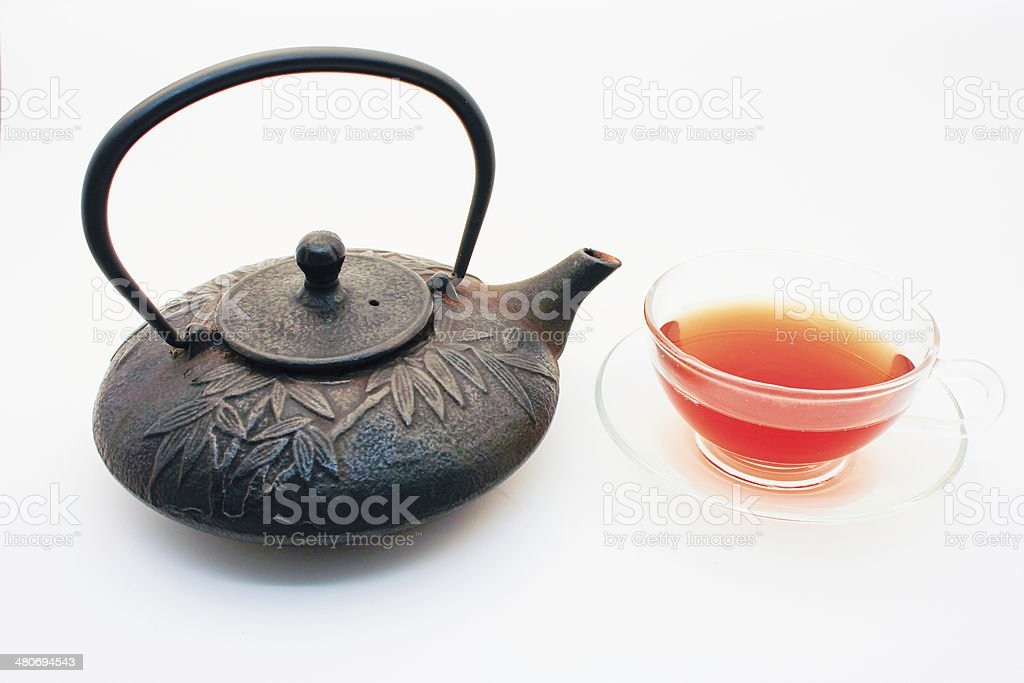 Tetsubin and Teacup stock photo