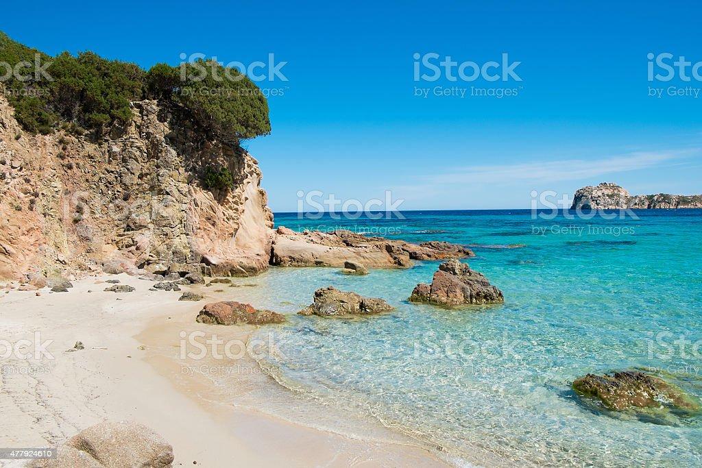 Teulada beach stock photo