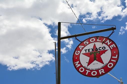 Oklahoma, Usa - July 20, 2017: Texaco Sign. Texaco, Inc. (