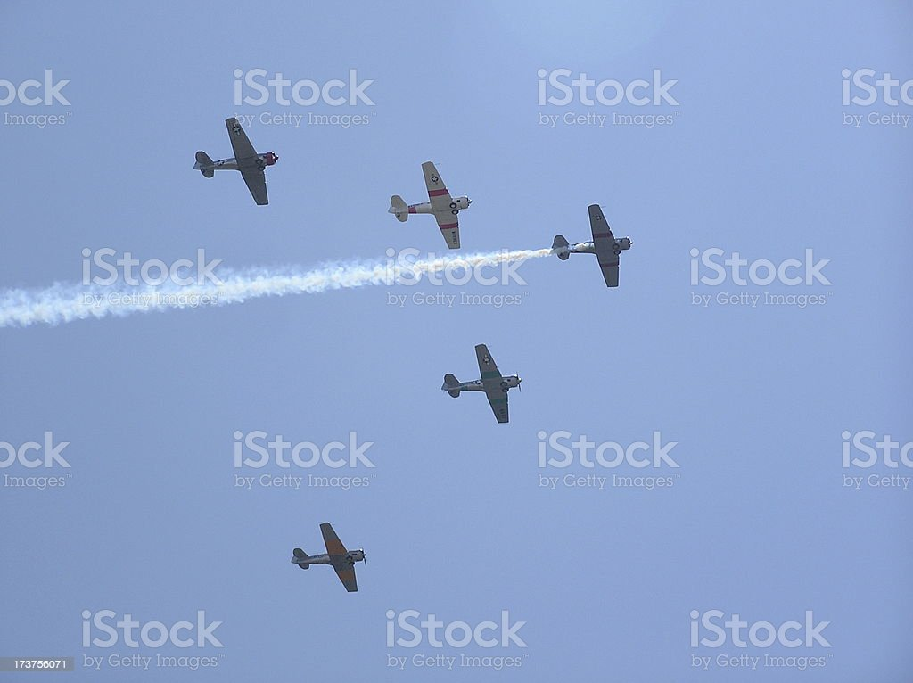 T-6 Texan Formation stock photo