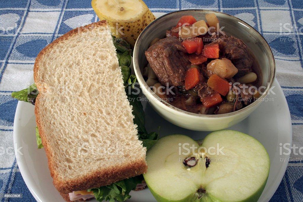 Zuppa di manzo alla texana & Sandwich foto stock royalty-free