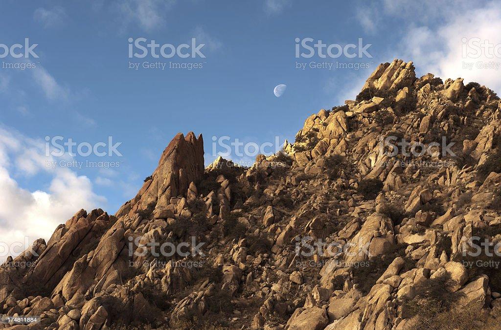 Texas Canyon in Arizona royalty-free stock photo