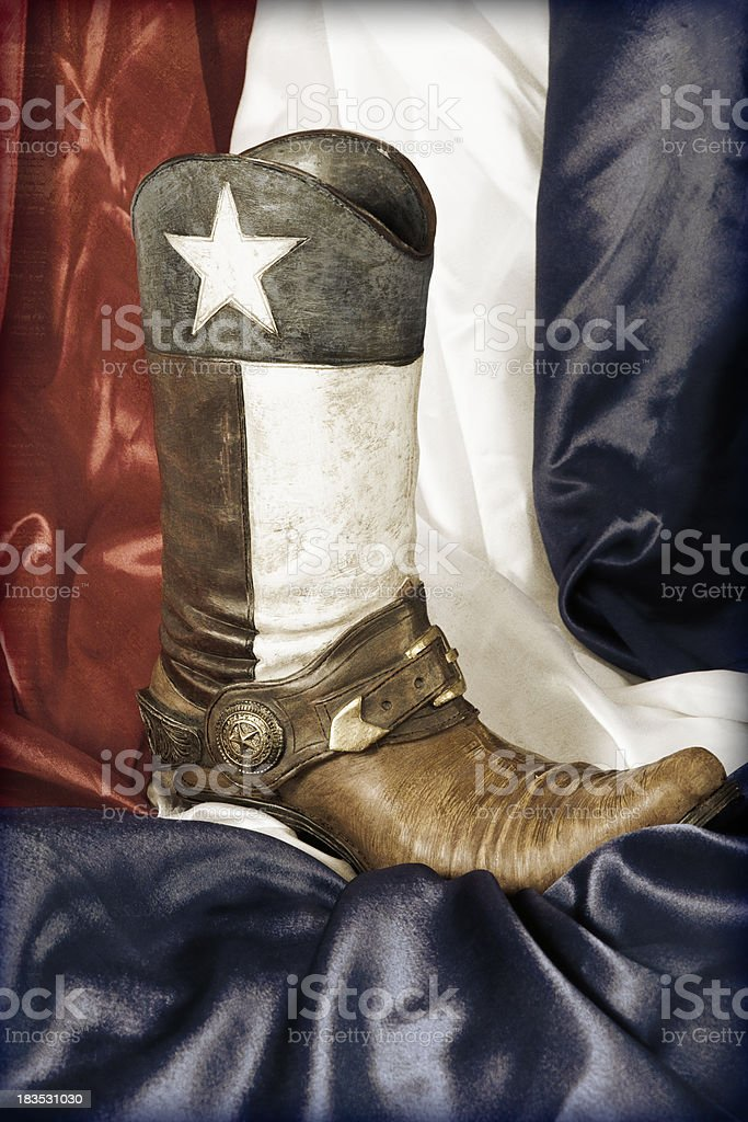 Texas Cowboy Boat stock photo