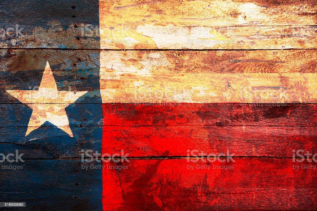 Texas flag hechas de viejo placas de madera. Pintarse. Rústica. - foto de stock