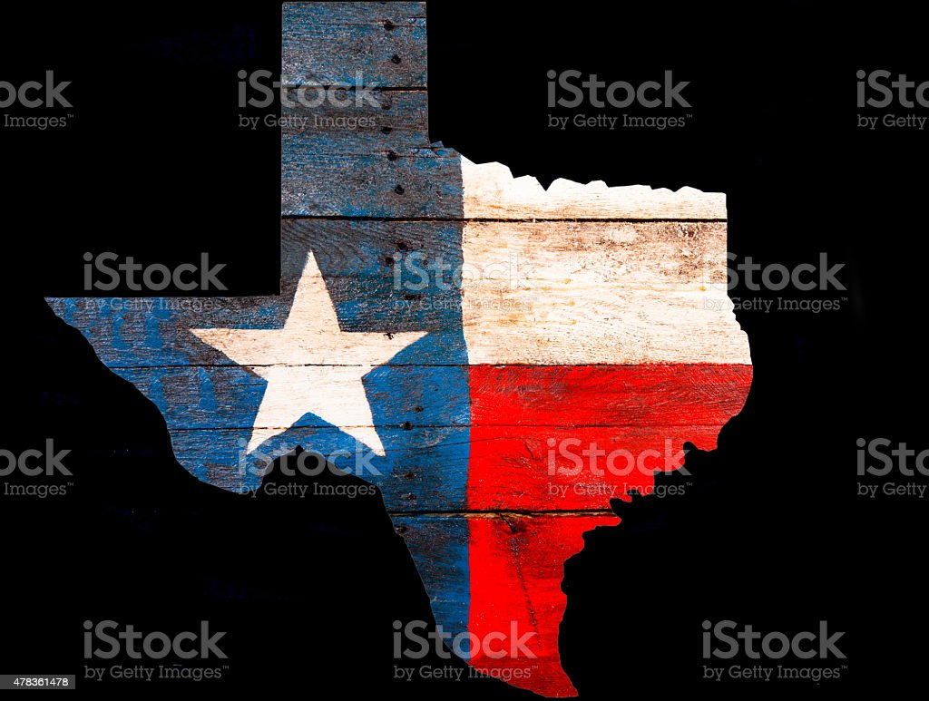 Texas Flag Made Of Old Wooden Boards Rustic State Outline Royalty Free