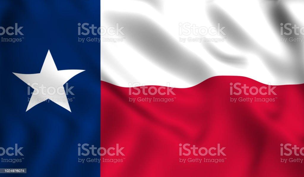 Estado del pabellón de Texas U.S. - foto de stock