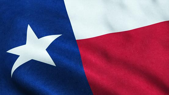 istock texas flag USA waving 1172994275
