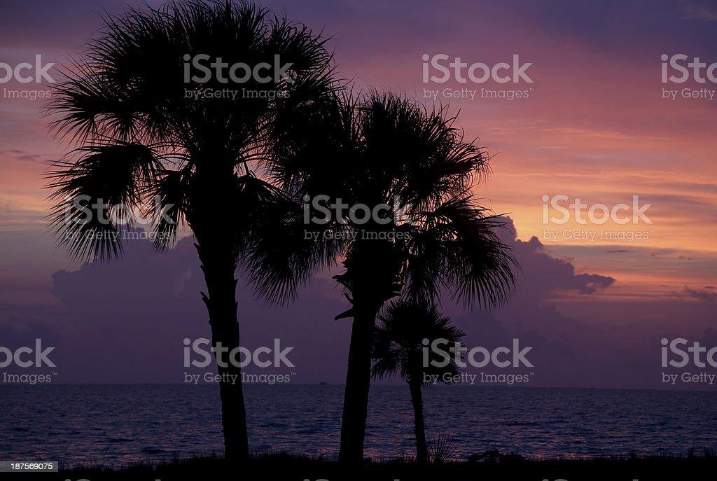 Texas Gulf Sunrise stock photo