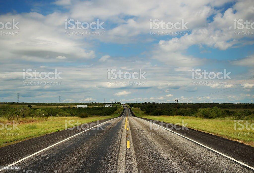 Texas Highway stock photo