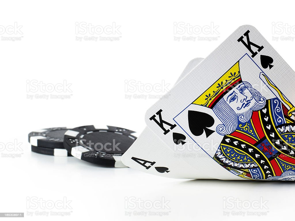 Texas Hold 'em Poker stock photo