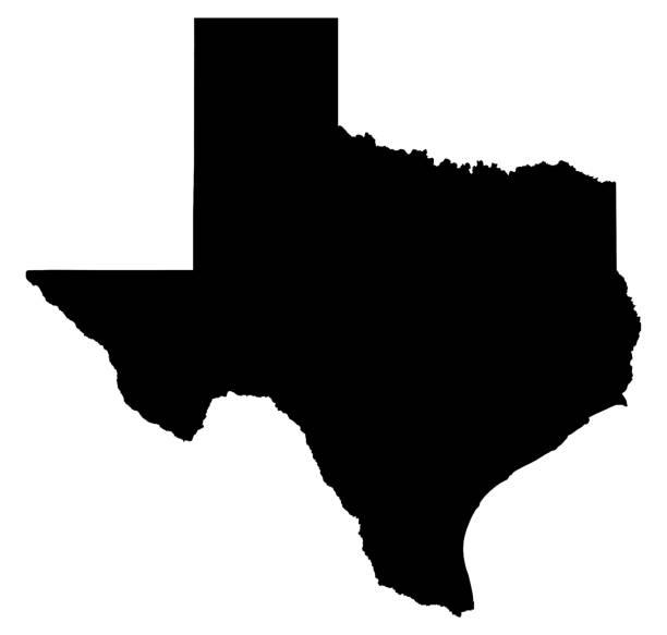 Texas map illustration stock photo