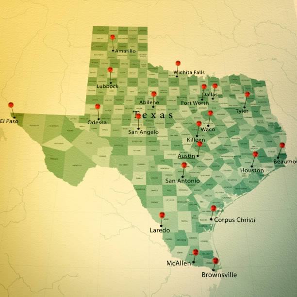 Royalty Free Texas Map Pictures, Images and Stock Photos - iStock