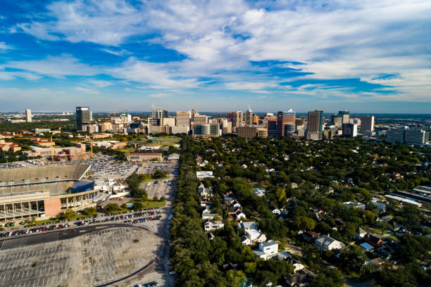 Texas Medical Center Aerial Skyline View stock photo