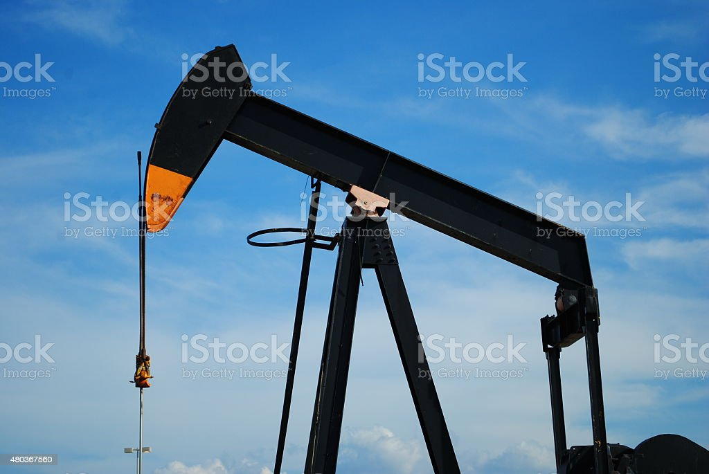 Texas Oil Derrick stock photo