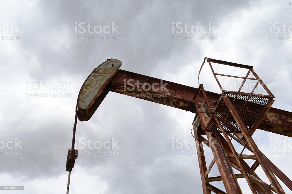 Texas Oil Pumping Jack stock photo