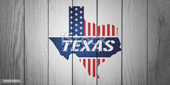 1056103150istockphoto Texas Patriotic Map in White Wood Board Textured 1055318024