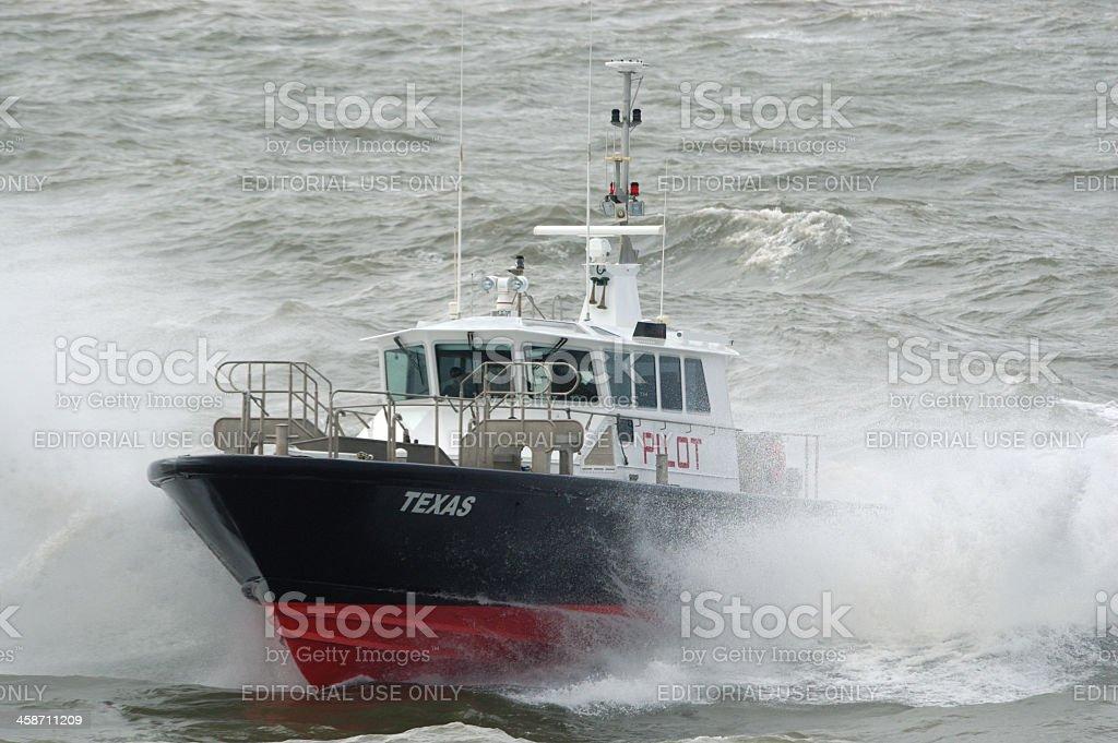 Texas Pilot Boat royalty-free stock photo