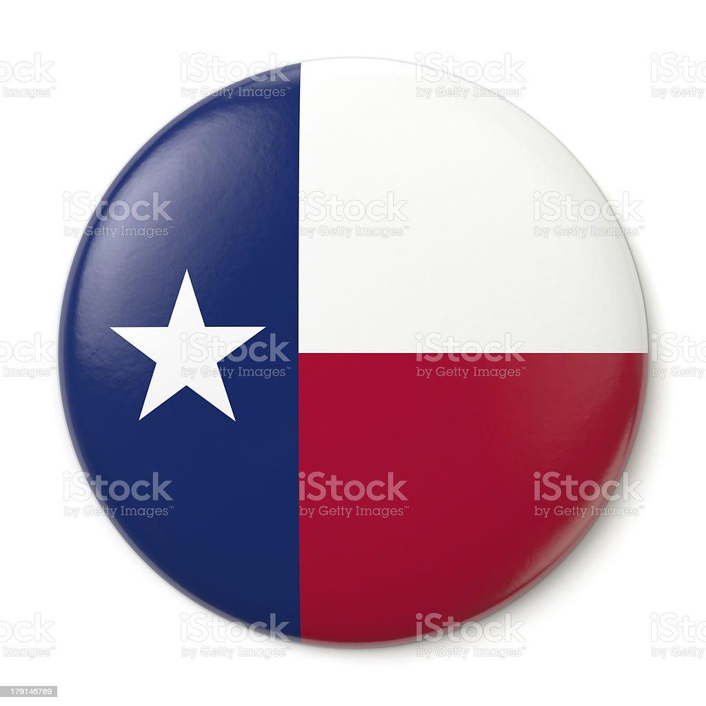 Texas Pin-back royalty-free stock photo