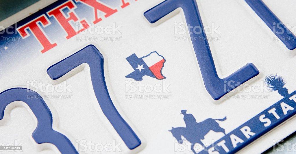 Texas Plate stock photo