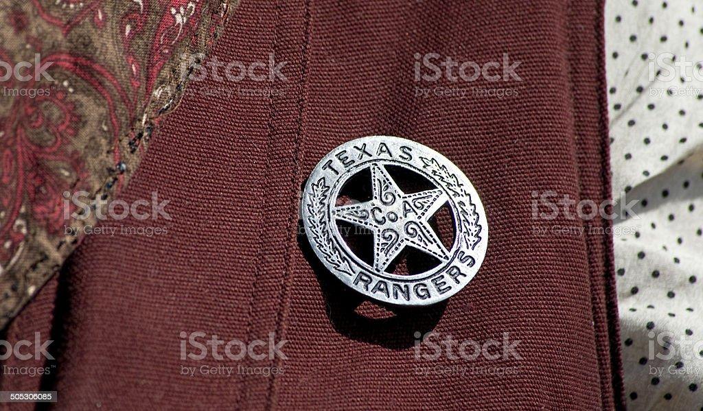 Texas Ranger Badge. stock photo