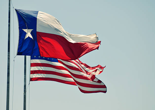 Texas Rising stock photo