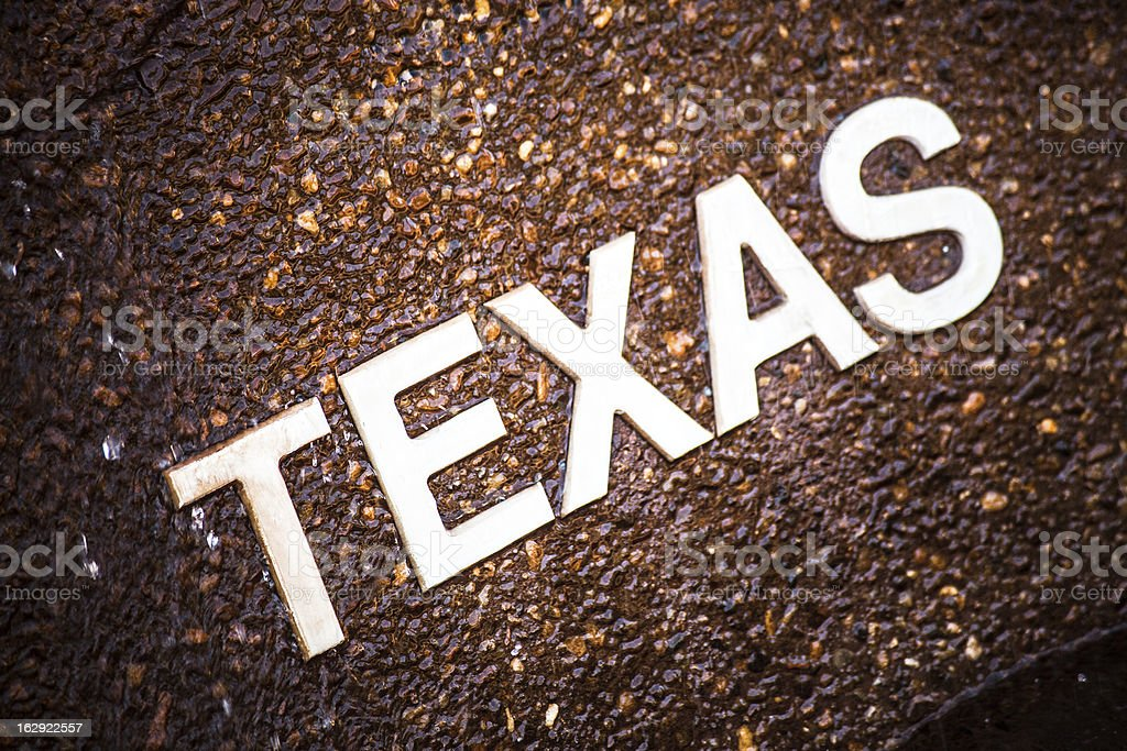 Texas Sign royalty-free stock photo