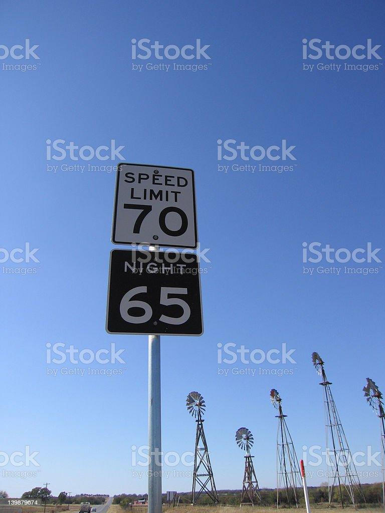 Texas Speedlimit stock photo