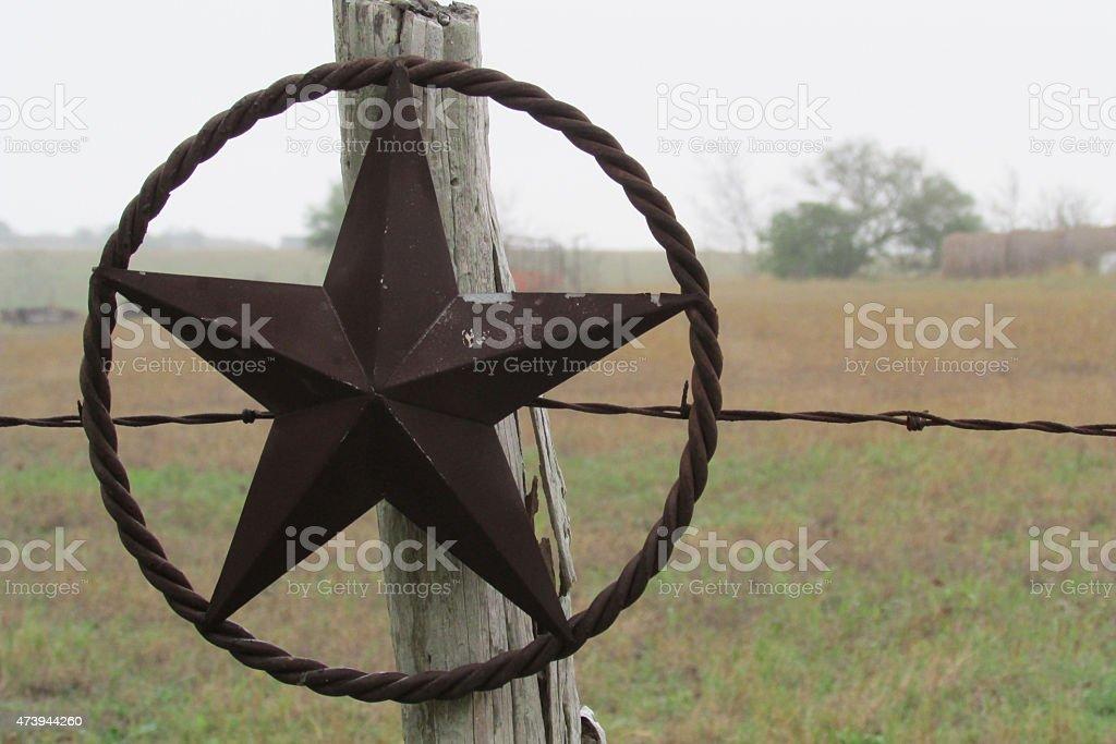 Estrella de Texas en una valla - foto de stock