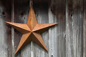 Rusty Texas Star on the side of a weathered old barn