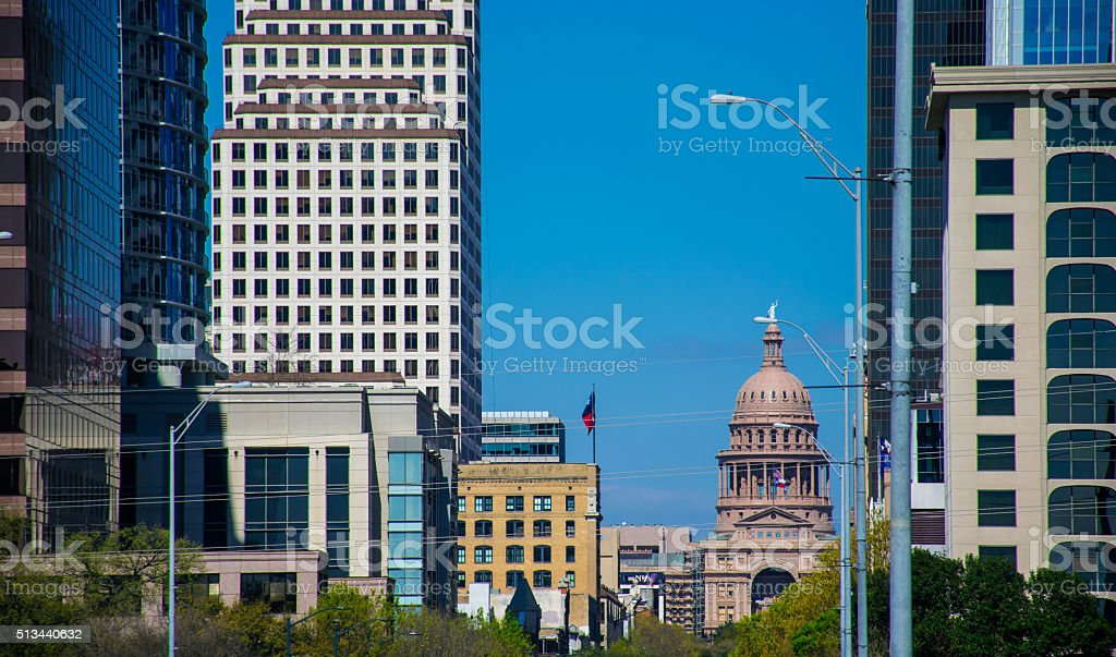 Texas State Capital South Congress View Zoomed In stock photo