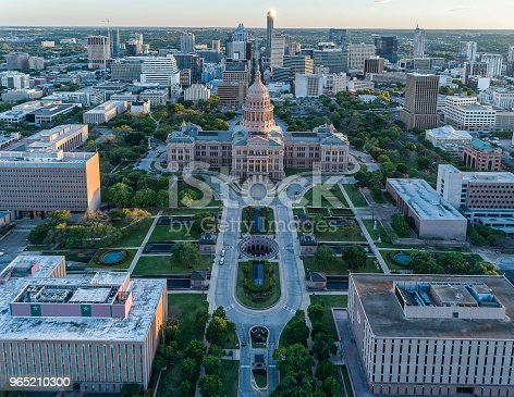 Texas State Capitol In Austin Texas Stock Photo & More Pictures of Aerial View