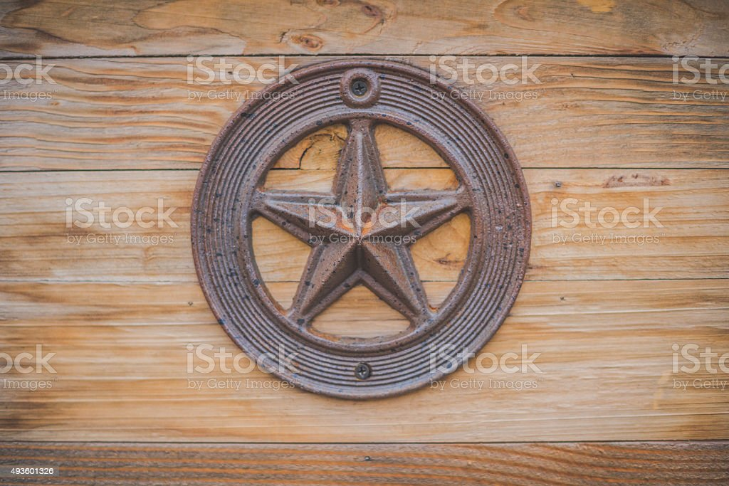 Texas State Capitol Lonestar on wood stock photo