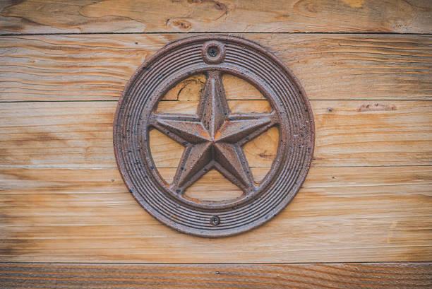 Texas State Capitol Lonestar auf Holz – Foto