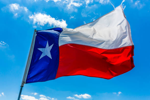 Texas State Flag Lone Star Flag of the State of Texas, USA san antonio texas stock pictures, royalty-free photos & images