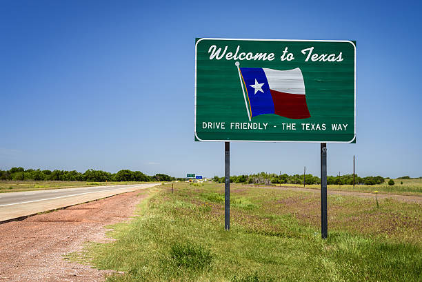 texas state sign - place sign stock pictures, royalty-free photos & images