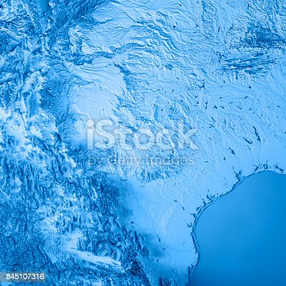 186815169istockphoto Texas State USA 3D Render Topographic Map Blue 845107316