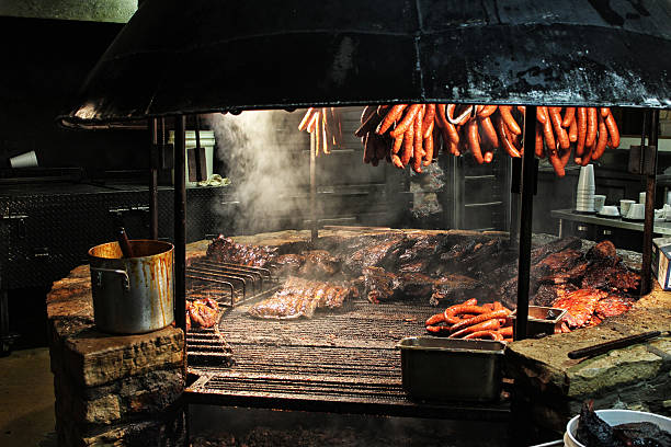 Texas Style Barbecue Pit stock photo