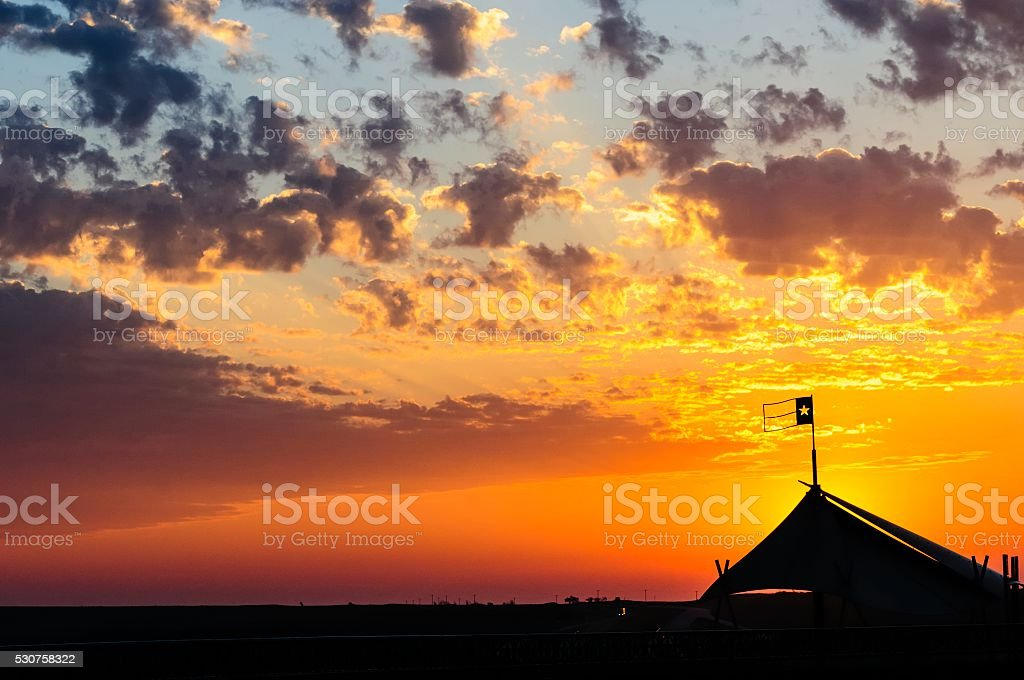 Texas Sunrise Near Amarillo stock photo