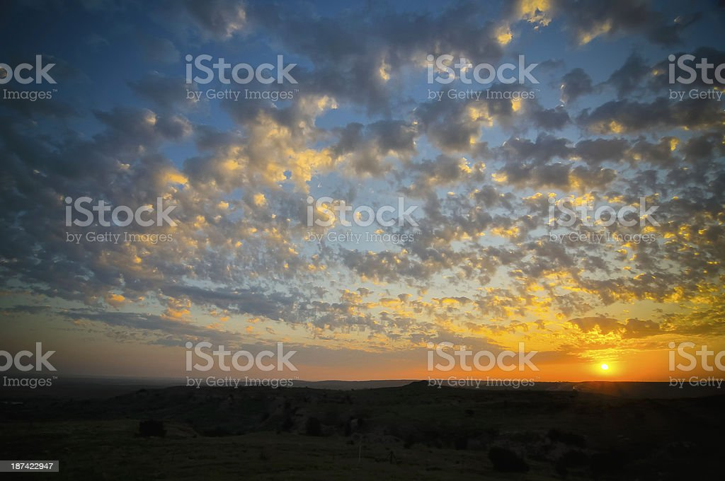 Texas Sunrise stock photo