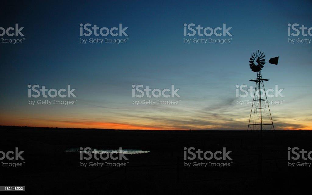 Texas Sunset royalty-free stock photo