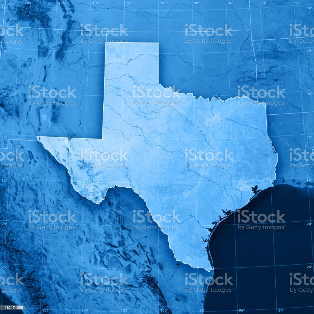 Texas Topographic Map Stock Photo More Pictures Of Backgrounds - Texas topographic maps free